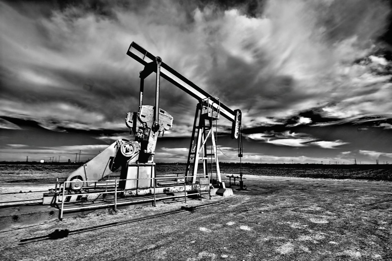 Overcast Nature Sky Storm Cloud Outdoors This Week On Eyeem Texas Photographer Black & White Photography EyeEm Gallery Eyeemphotography Black And White Collection! Wideangle Lens Oil Field Oil Pump Dramatic Sky Pump Jacks Midkiff Texas West Texas Skies West Texas