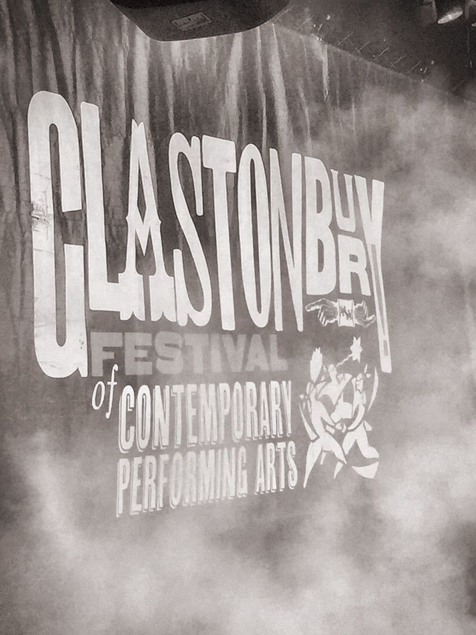 Glastonbury 2016 Banner Festival Music Black And White Photography Bnw_collection Stage Performance Stage Stage Photography Stage Backdrop