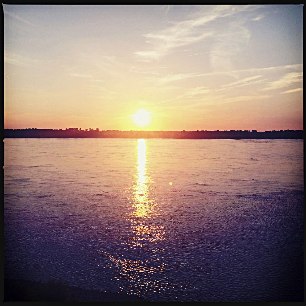 Sunset on the Mighty Mississippi