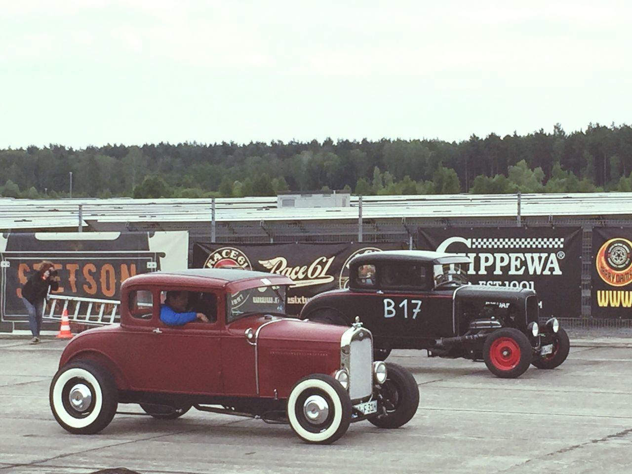 Transportation Mode Of Transport Tree Land Vehicle Outdoors Sky Road Racing Oldtimer Old Car Men
