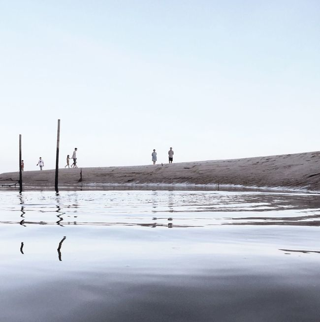 DONGSHAN ISLAND- 旅志 Reflection Clear Sky Water Beach Silhouette Tranquility Sea Tranquil Scene Vacations Summer Day Waterfront Outdoors Surface Level Scenics Tourism Ocean Calm Nature Solitude