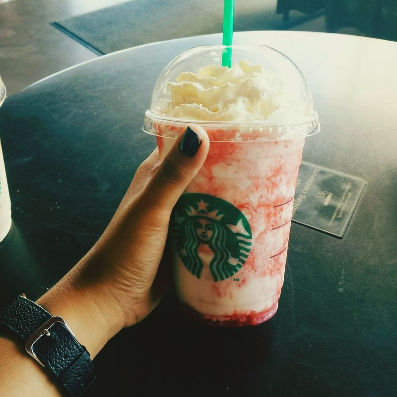 lemme chill for a moment and take a sip to my strawberry coffee. ☕🍓