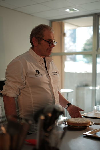 Pastry Chef Jean-Paul Bosca Food And Drink Man Chef Eyeglasses  Food Food And Drink Food And Drink Establishment Foodphotography Freshness Indoors  Mature Men One Person Pastry Pastry Chef People Preparation  Real People Standing Uniform Working