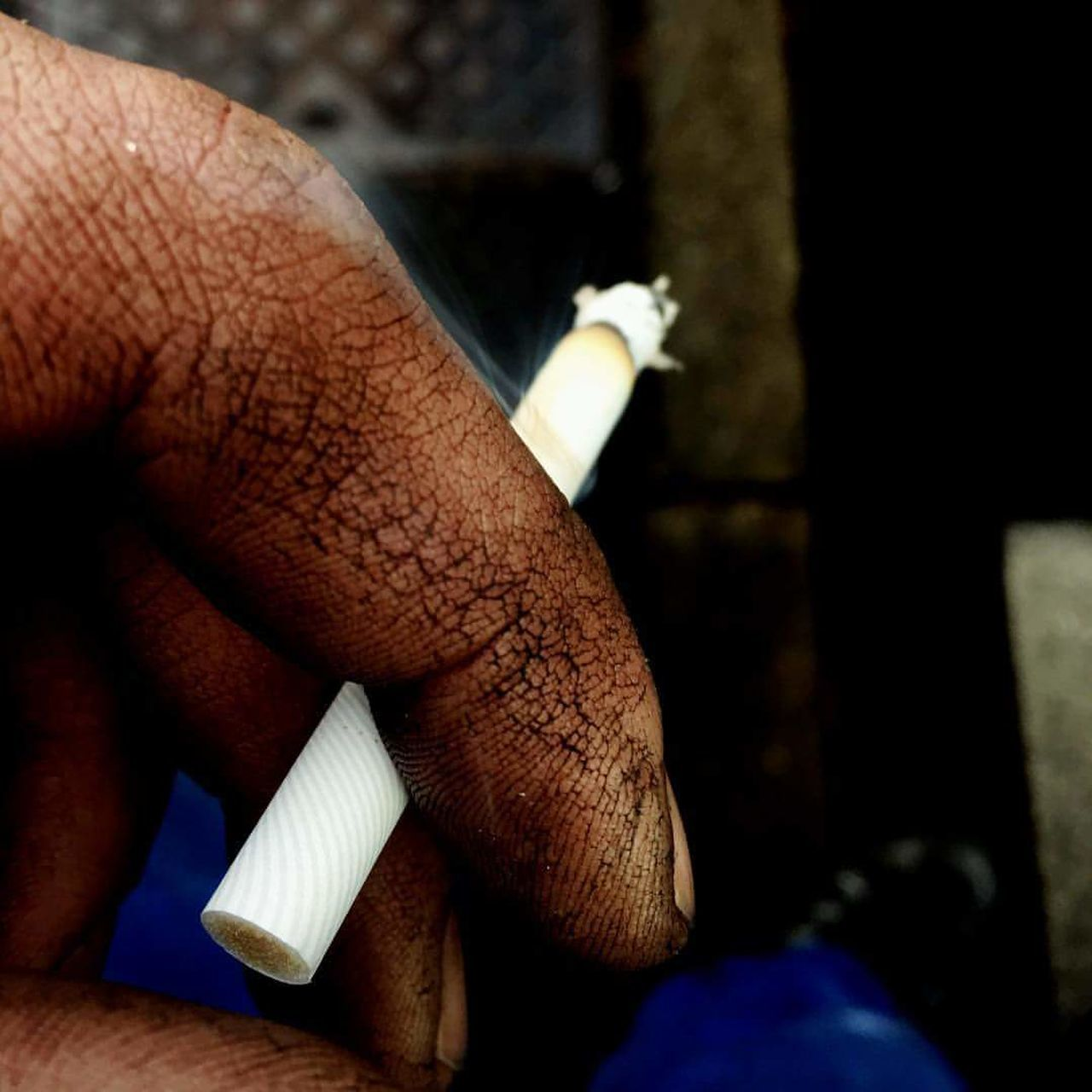 Human Hand Human Body Part Human Finger Real People Adults Only One Person Adult People Men One Man Only Close-up Day Only Men Work Working Dirty Dirtyhands Smoke Smoking Cigarette  Marlboro