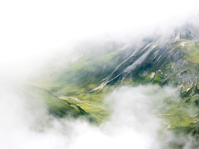 Just for seconds you could see this meadow before the clouds coverd it Green Meadow Clouds Austria View From Above Color Pop Mountain White And Green Nature Landscape Lucky Moment Betterlandscapes
