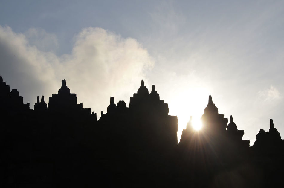 Borobudur temple in Central Java, Indonesia Architecture Borobudur Buddha Buddha Statue Buddhist Architecture Buddism Day Early Morning Hindu Temple Hinduism Holy Sites INDONESIA Japan Java No People Outdoors Sacred Sacred Places Sites Statues Stupa Sunrise Temple Temple Architecture EyeEm New Here