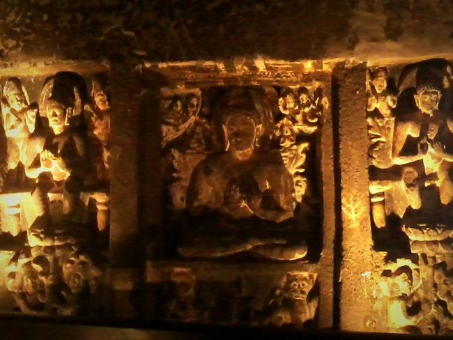 India Ajantacaves Photography Beautiful Sculpture Ancient Architecture Amazing Architecture Caves Lights First Eyeem Photo Budha