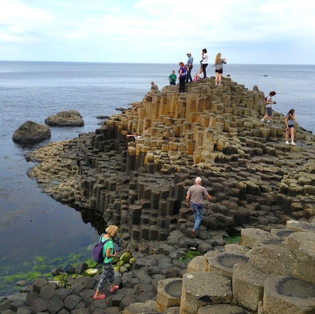 Giant's Causeway Basalt Columns County Antrim Ireland🍀 Nature Amazing View Inspirational Nature's Wonder Nature's Beauty Travel