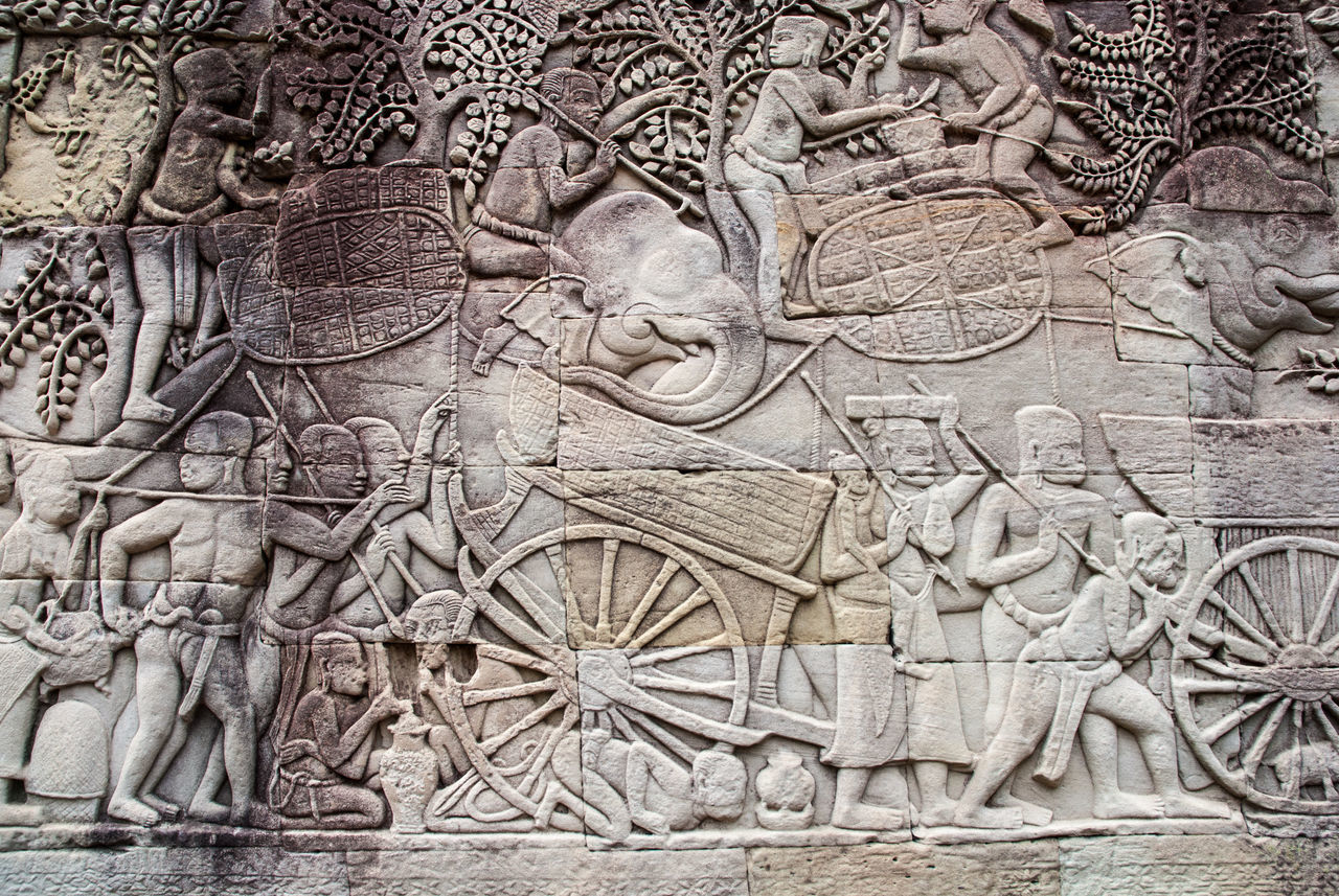 bas relief, carving - craft product, history, full frame, no people, day, architecture, ancient, travel destinations, outdoors, close-up, sculpture, ancient civilization