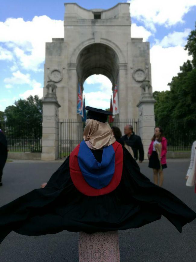 Batgirl Convocation Graduation Leicester University HuaweiP9 Showcase July