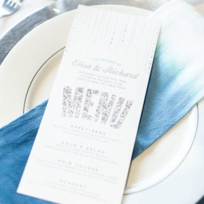 Like seriously. Debbie at @thespottedolive does Menu cards like off the charts amazing!! Prob why she's award winning:) Glitz Glam NYC Celebration Weddingshoot Etsy @love_and_lavender_ @elviratakesphotos JAC &Jil