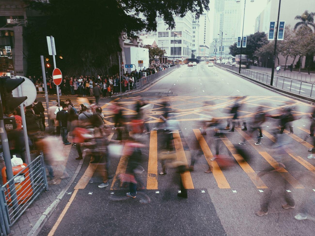 香港 延时摄影 马路