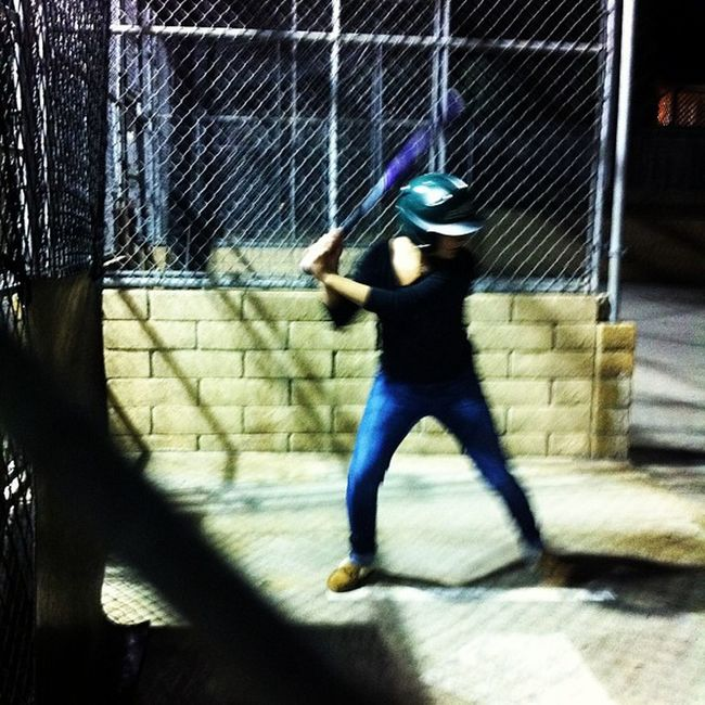 Haven't hit 50mph in over a year, surprised when I only fouled 2 and hit the rest perfectly 😃⚾ Battingcages Lovehitting Evenifidontplayfastpitchimstillasoftballgirl Homerunpark