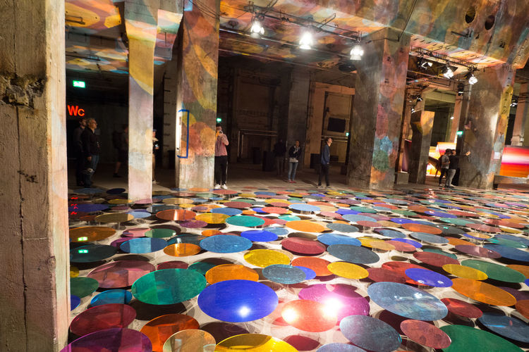 Reflection Architecture Day Hall Illuminated Indoors  Indoors  Layers Multi Colored No People Perspectives Playground