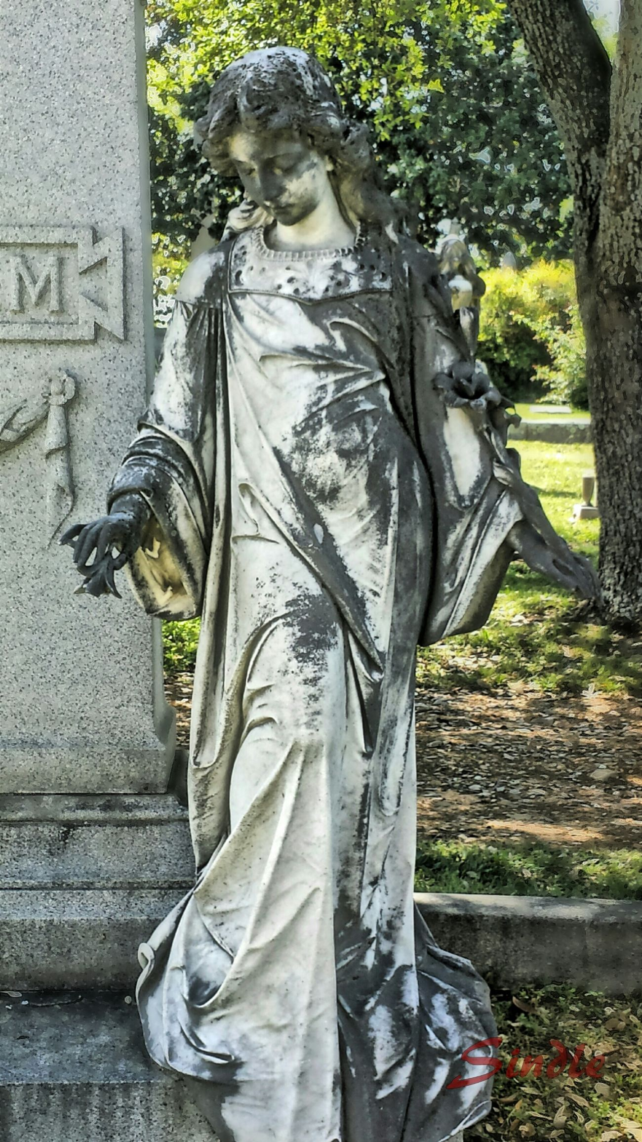 Our Lady of Mt. Holly. Photo Manipulation Digital Art Cemeteryscape Downtown Little Rock