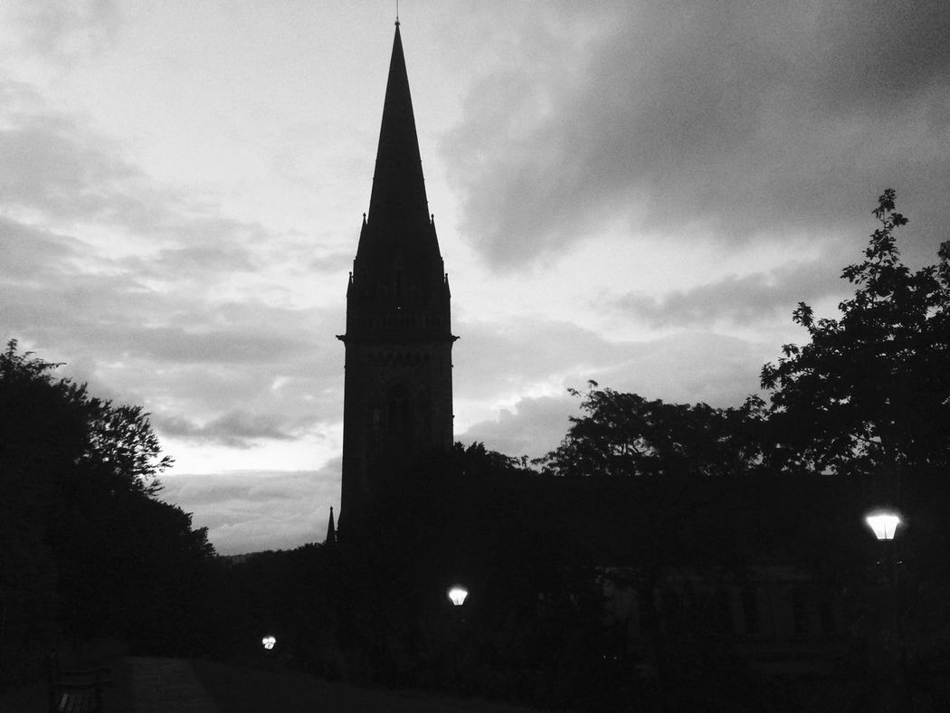 I Love My City sat waiting for my son outside Llandaff cathedral. A hauntingly beautiful place at dusk Praising The Lord