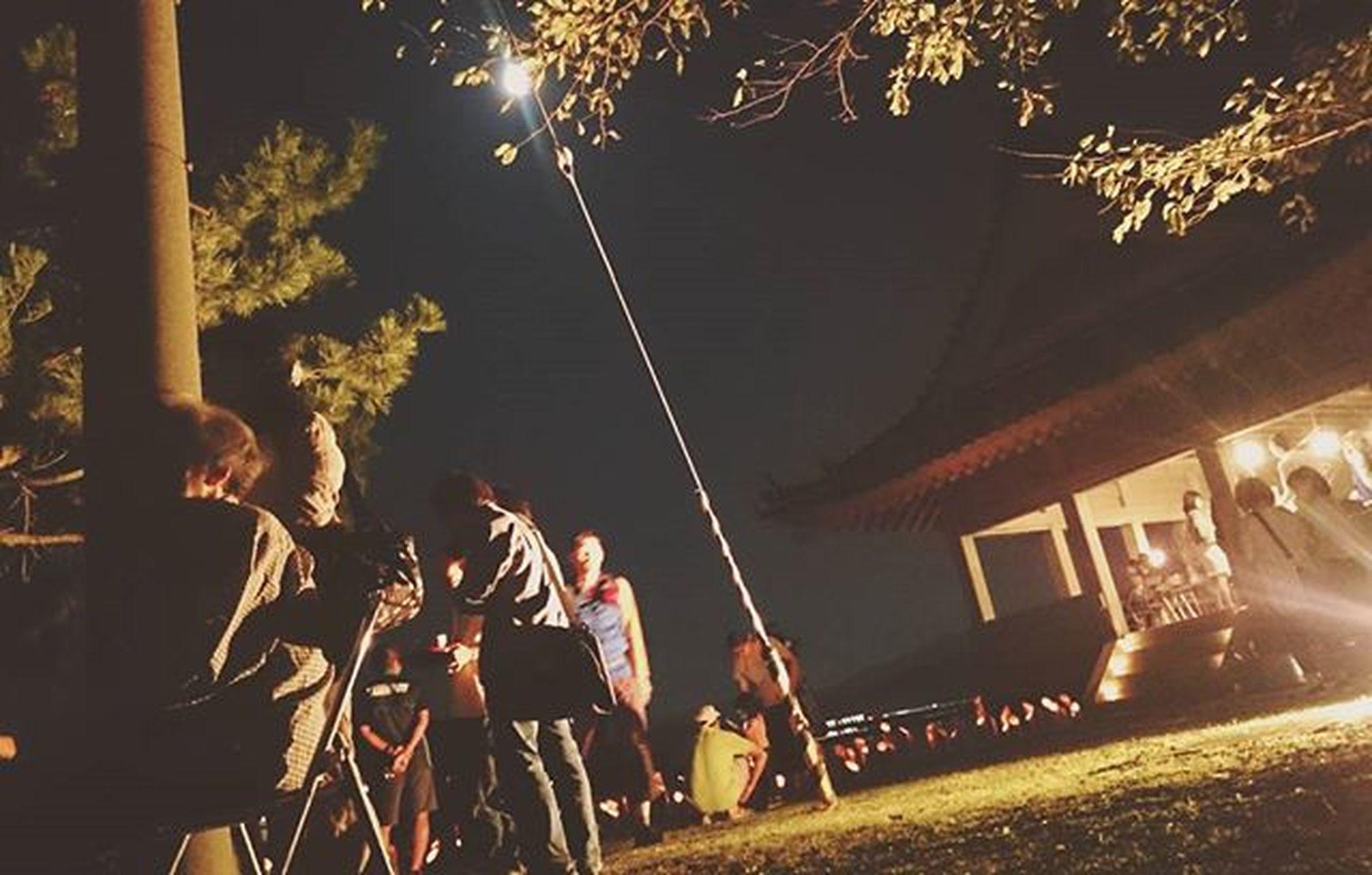 竹燈夜 家族でおでかけ 月 心地の良い夜風 良い時間