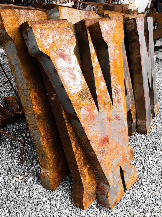 Pivotal Ideas Showcase August Letter Letters Decoration Rusty Old Weathered Letter W Rusty Surface