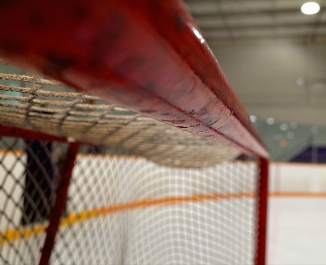 hockey goalie house Ice Hockey Net Post Arena Red Close-up Sport Indoors  No People Day