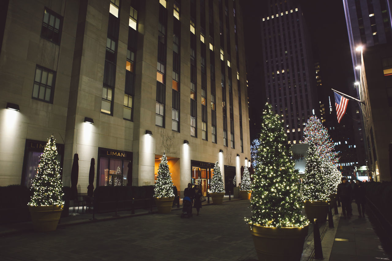 Adult Adults Only Architecture Celebration Christmas Christmas Christmas Decoration Christmas Lights Christmas Ornament Christmas Tree City City Holiday - Event Illuminated New York Night NYC Outdoors People Rockefeller Center Tree Winter