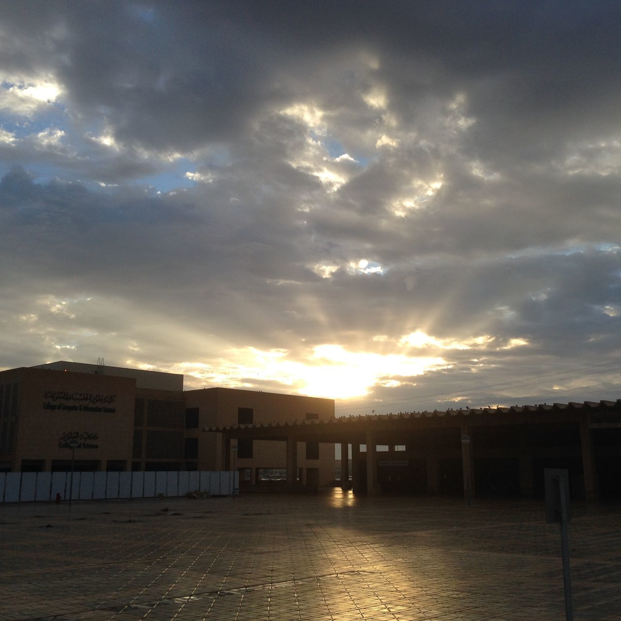 sky, built structure, architecture, sunset, no people, cloud - sky, outdoors, building exterior, day