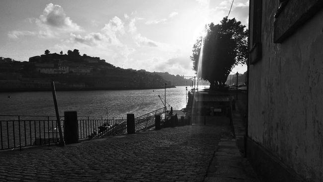 Douro - Water Sky Day River Douro  Porto Portugal Blackandwhite Black And White Black & White EyeEm Best Shots Landscape City Street Streetphoto_bw