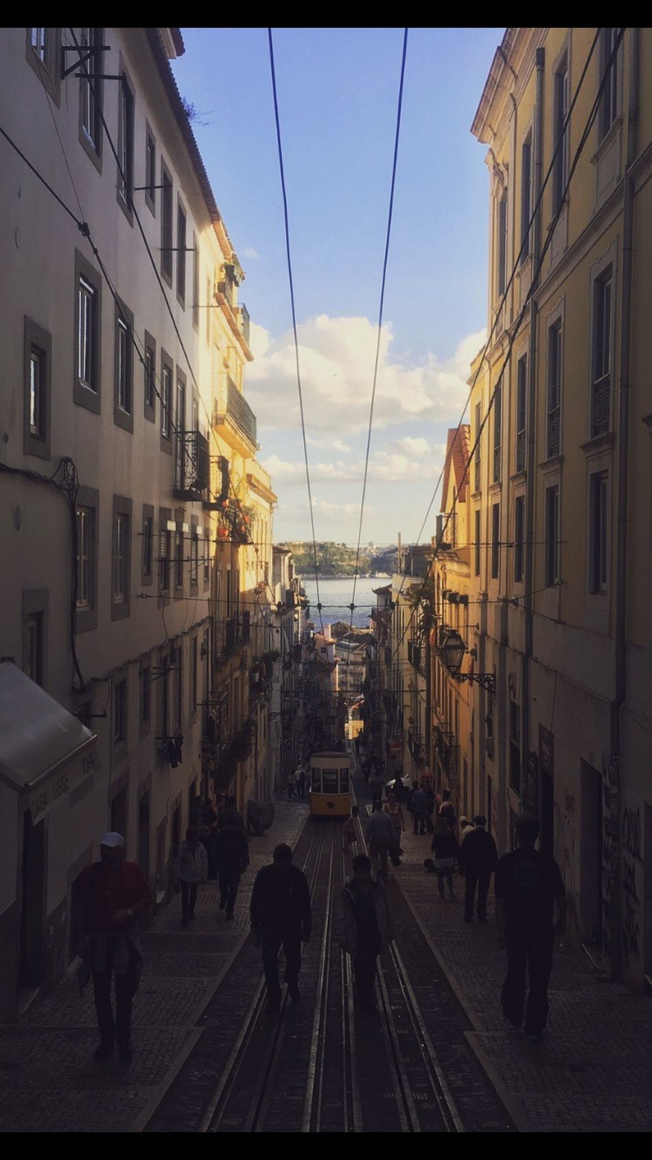 ... Lisbon, you had me right there Architecture Transportation Cable City Lisbon Portugal Cable Car Hill Summer Life