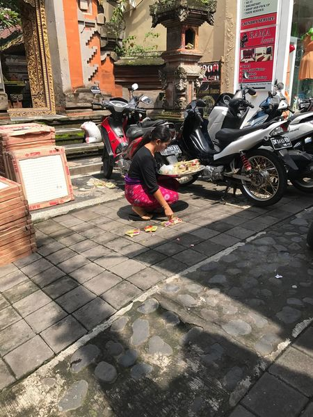 cut out the scene. Street Real People Cobblestone Full Length Building Exterior City Outdoors Architecture Adults Only One Person Adult People Social Issues Day EyeEm Scene Bali
