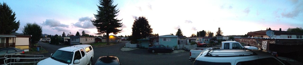View From The Trailerpark Sunset Panorama IPhone IPhoneography Astoria, Oregon