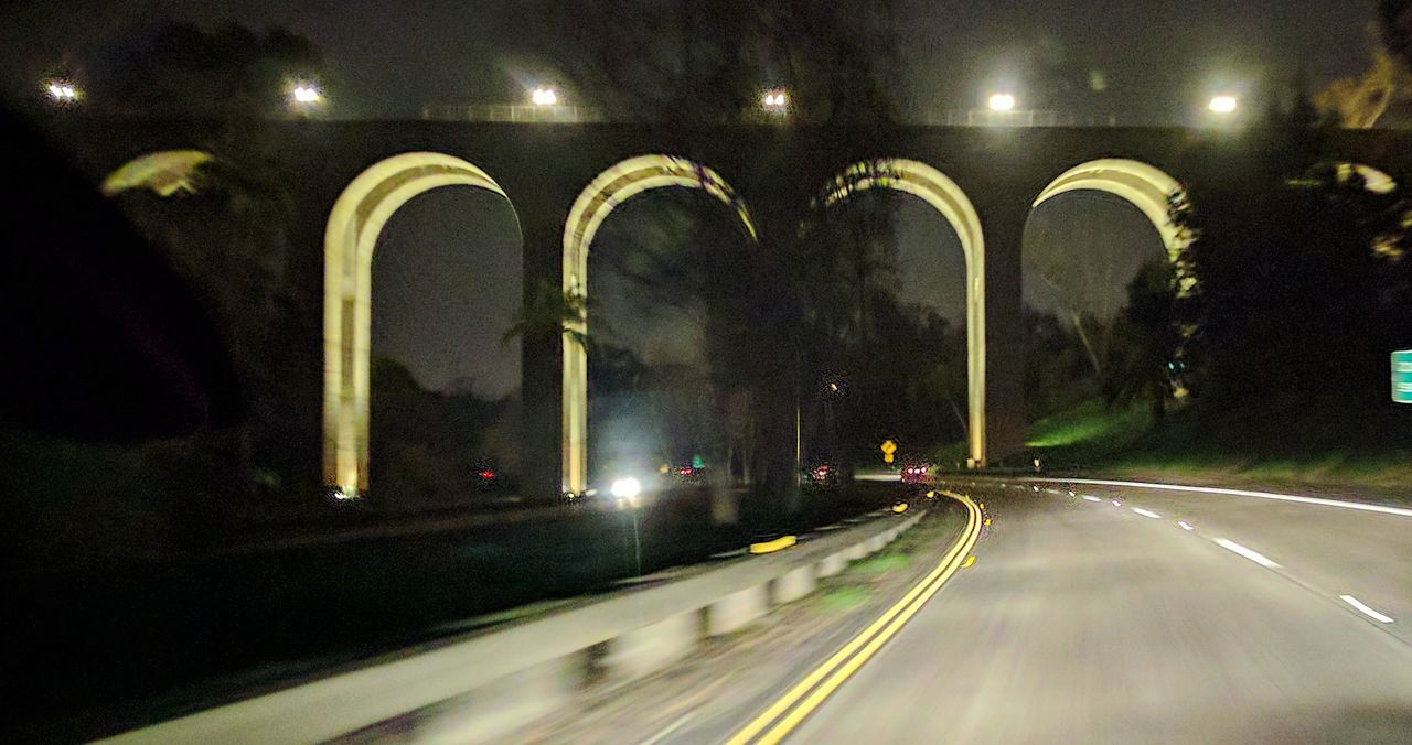 cabrillo bridge on sr 163 Night Illuminated Architecture Adapted To The City EyeEm Gallery Eyem Gallery San Diego Night Photography Going Home On The Road Bridge Bridge Photography Outdoor Photography Southern California In A Car Street Lights Highway What I Saw