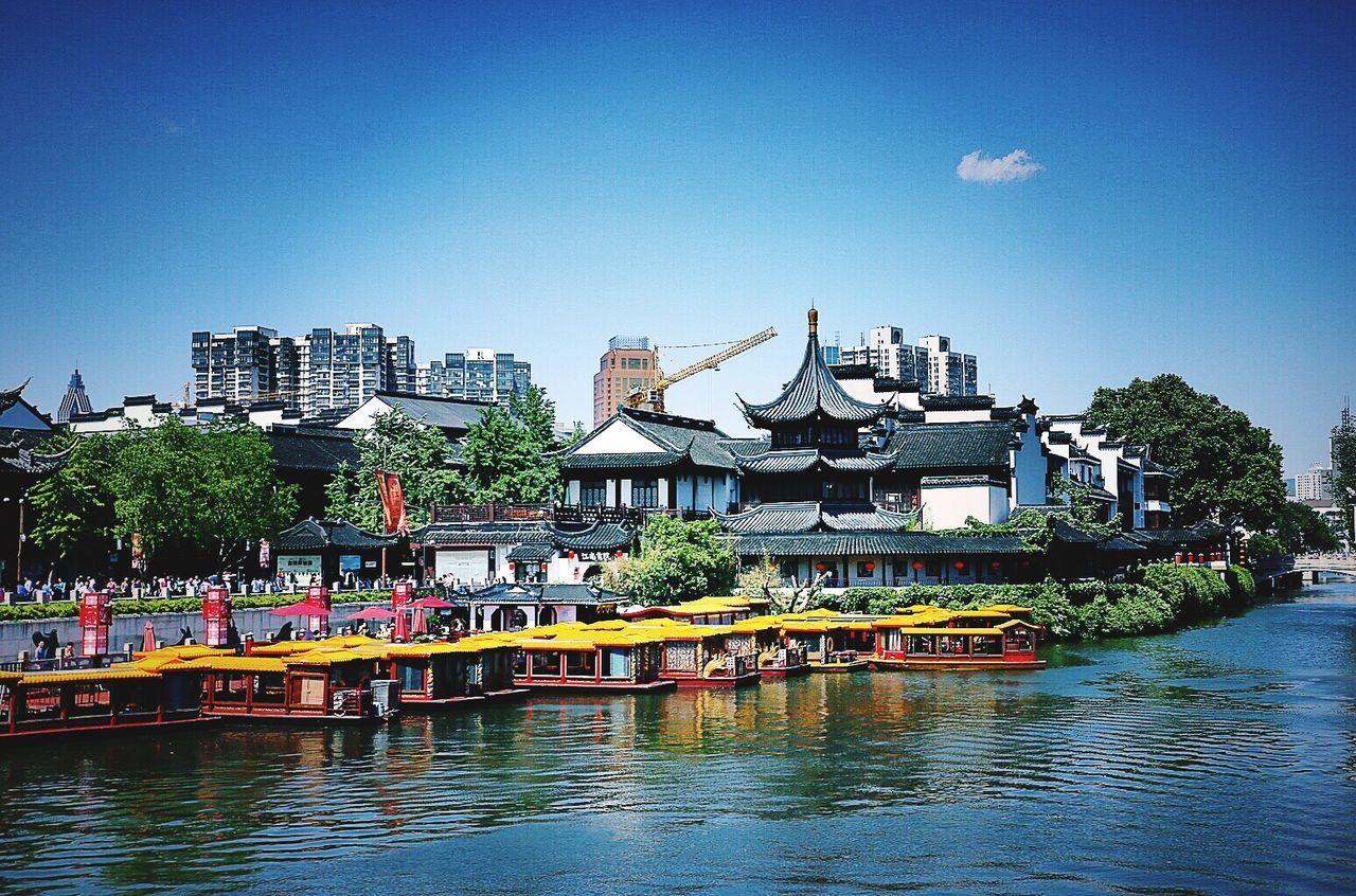 China View Nanjing.China Riverside Qinhuai River Old House NANJINGRIVQINHUAIOLD
