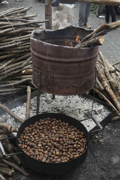 street roast chestnuts Autmn Brazier Chestnuts Elmers Preparing Roast Roasted Street Street Food