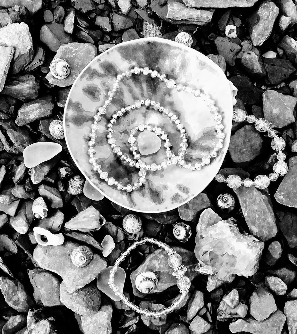 Art Photography Jewellery Photoshoot Handmade Nature Inspired Slate Shell Jewels&gems Silver  Darkness And Light Contrast