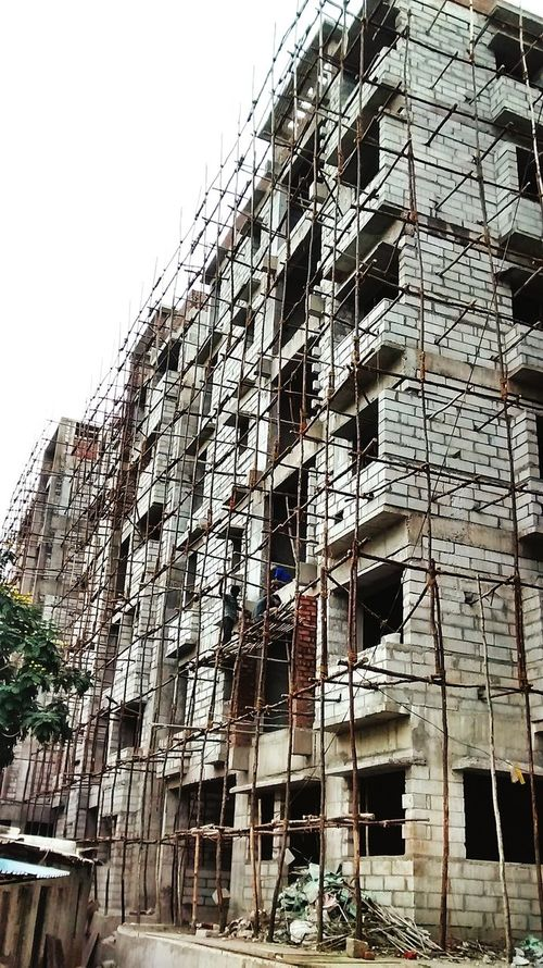 Beauty Construction Site Artificialbeauty Bamboo Scaffolding