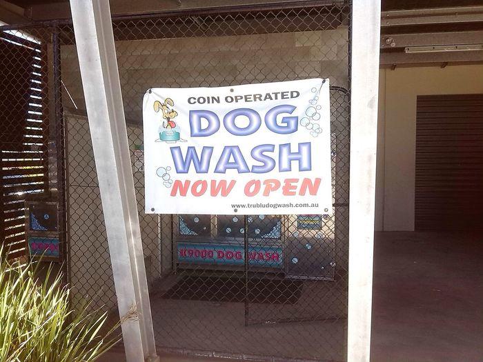 Coin operated dog wash seen in Wacol (Australia/QLD) No People Text Wacol Australia Dog Wash Coin Operated Coin Operated Dog Wash Wacol (Australia)