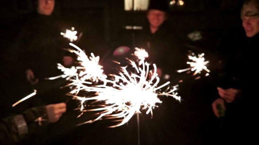 Night Celebration Outdoors Illuminated Motion Firework Display People Hdrphotography City Life Estonia Tartu Friends