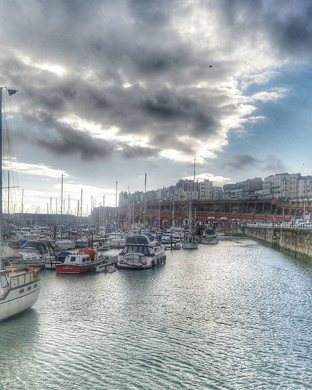 The only Royal Harbour in UK Harbour Royal Ramsgate Daytrip Travel Discover  Eastcoast Cloudy Yacht Fishboat Water Sea Seaside