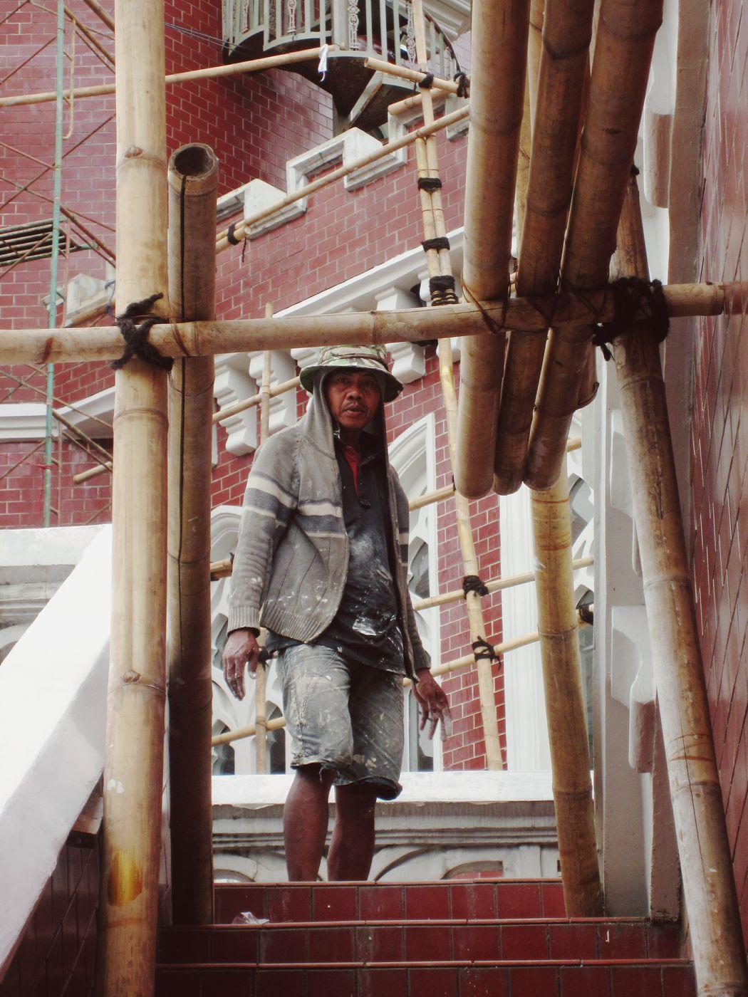 He looks like want to kill me 😂😂🙇🙇 Construction Construction Worker Man Working Renovation Project Castle In Renovation Fierce Fierce Look at Taman Mini Indonesia Indah Jakarta INDONESIA Fresh On Eyeem