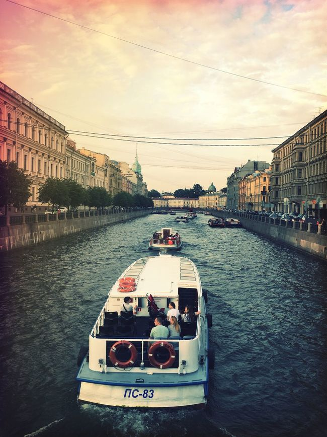 Battle Of The Cities Stpetersburg Architecture Boat Transportation Water City Canal River Moments
