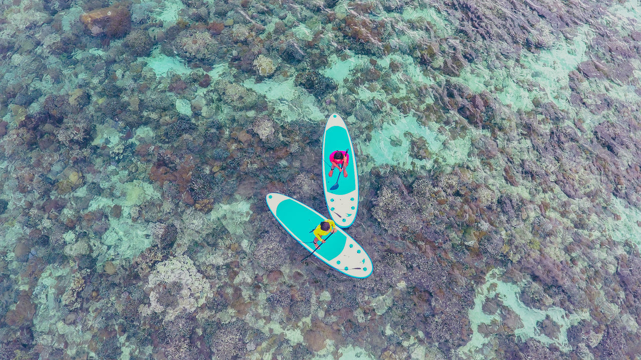 Bangka Island Bird's Eye View Day Drone  Dronephotography EyeEm Best Edits High Angle View Housereef Nature Outdoors Paddle Boarding Paddleboarding Relax Relaxing Flying High Islands