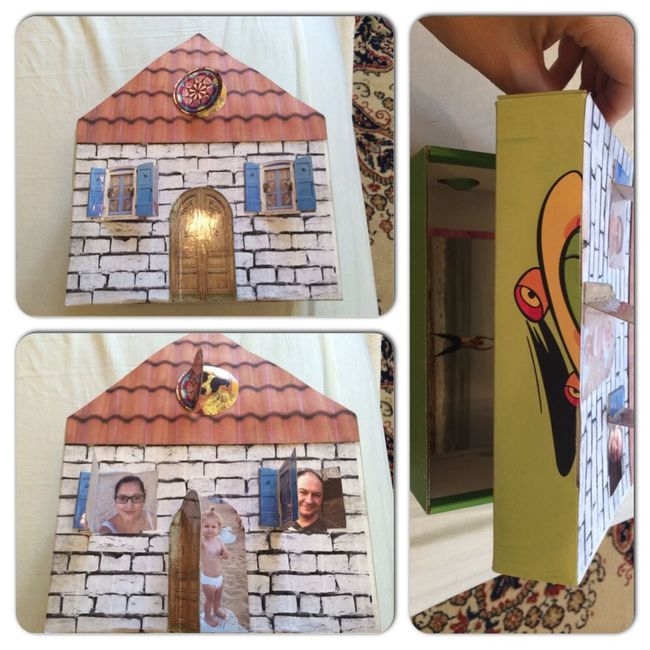 ТН Семья: сделала домик с семьей/коробочку для хранения (пока что фотографий) развивашки тематическая неделя Family