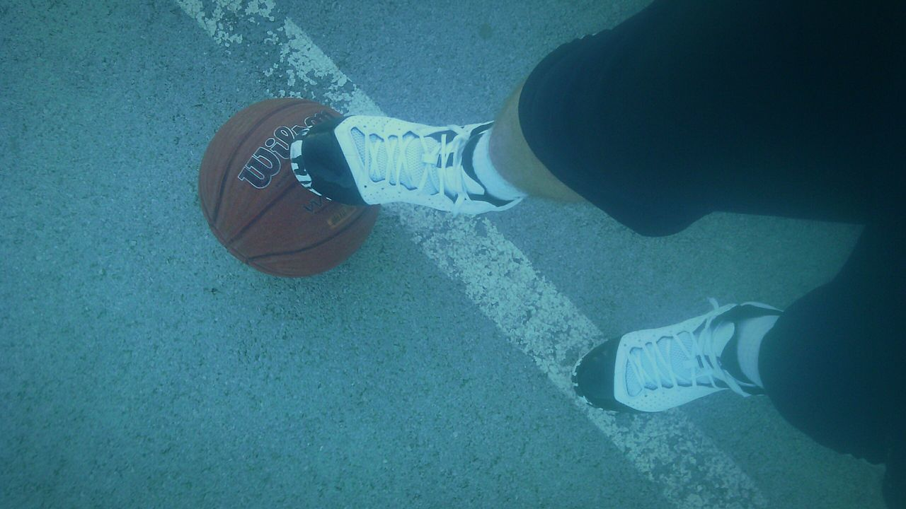 Sportsman Streetball Basketball Ballin' Bball Workout Outdoors Court BallLife Wilson  Shoe Day Close-up