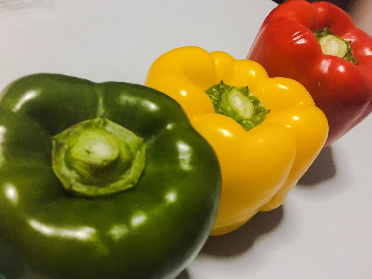 Bell Pepper Yellow Vegetable Red Freshness Healthy Eating No People Close-up Red Bell Pepper Food Healthy Green Color Day Green Bell Pepper Yellow Bell Pepper Cooking Freshness Fresh Produce Healthy Food Three Capsicum