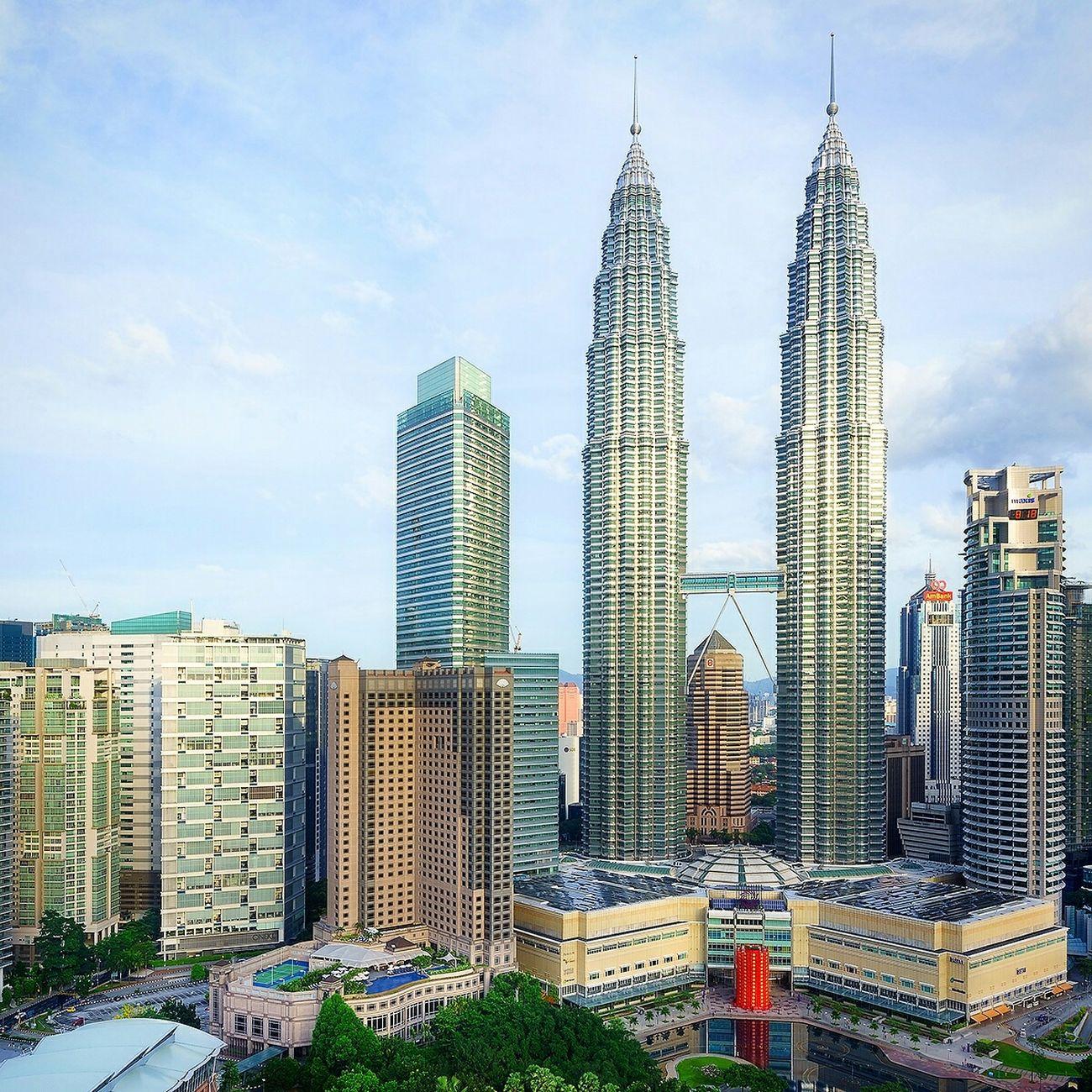Kuala Lumpur Malaysia ASIA Petronas Twin Towers Petronas Aerial Shot Morning Blue Sky EyeEm Best Shots EyeEm Best Edits EyeEmBestPics Travel Travel Photography