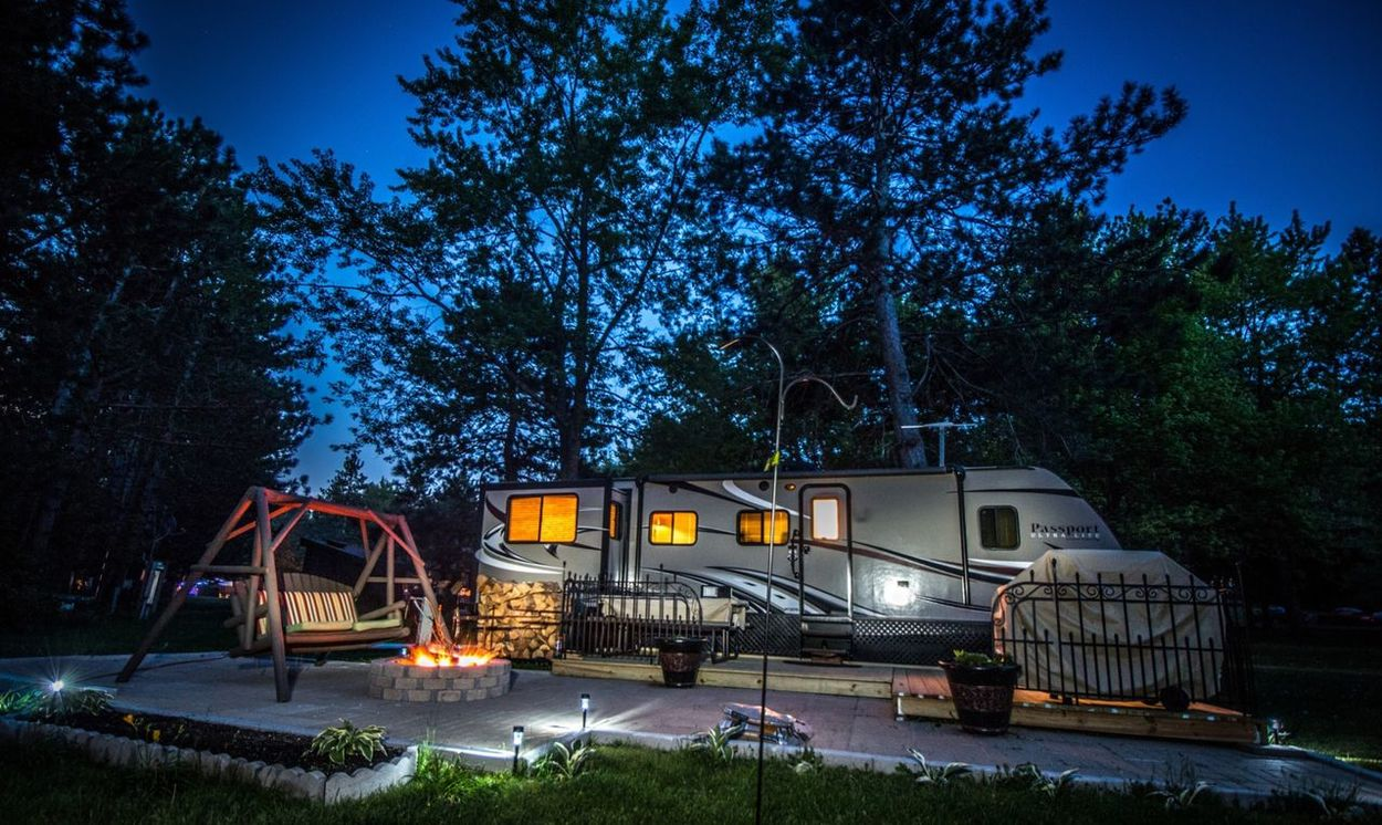 Photography Photo Beautiful Art Campfire Camping Campsite Campground Trailer Trailerpark Camp Fire Vacation Mobilehome Stars Forest Woods
