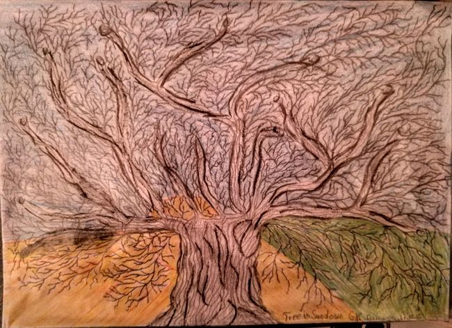 """Hello World, I tried something new with my drawing....I call it...""""Tree in Sundown""""...have seen it and draw it...enjoy... Check This Out Enjoying Life Eveningsun Originalpicture Individual Picture Nature Picturing Individuality Pivotal Ideas Shadow And Light Drawing Creativity Trees And Sky Flowers,Plants & Garden Art, Drawing, Creativity Onelook"""