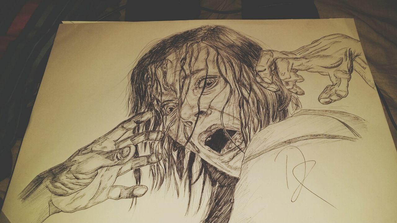 fuck yeah!!! Blackandwhite Drawing Girl Art