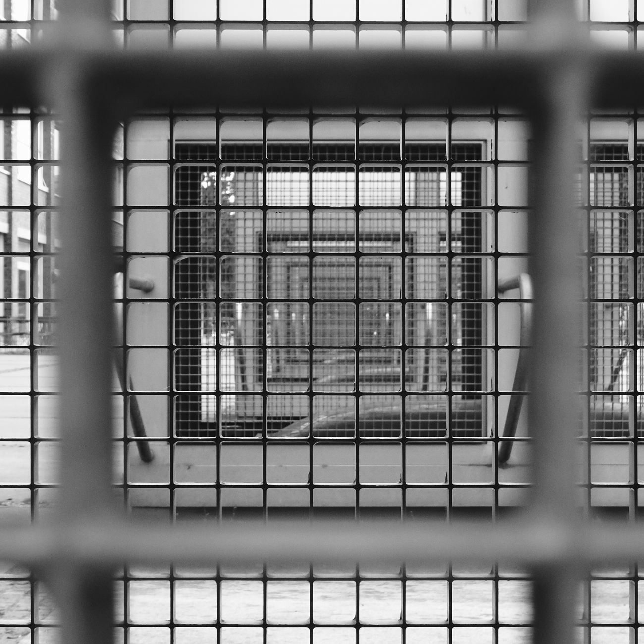 in the cage Architecture No People Built Structure Geometry Geometric Shape Black And White Blackandwhite Black And White Photography Blackandwhite Photography Light And Shadow
