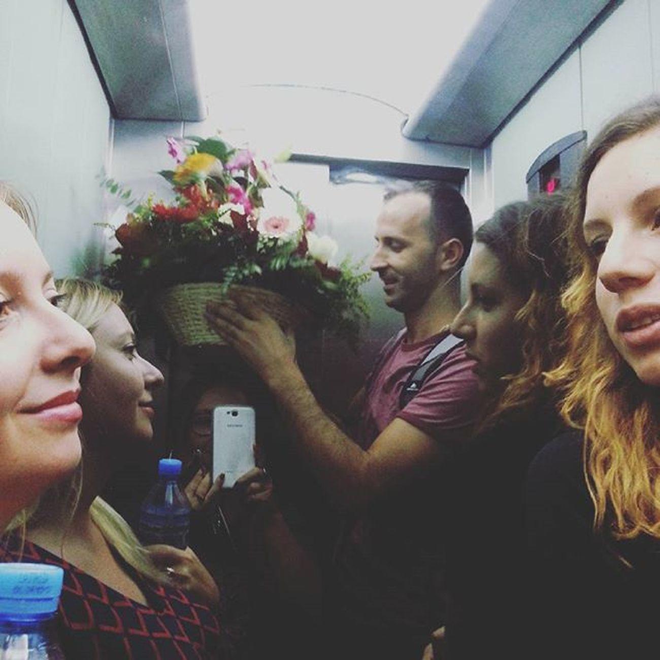 Elevatorselfie Flowerpower