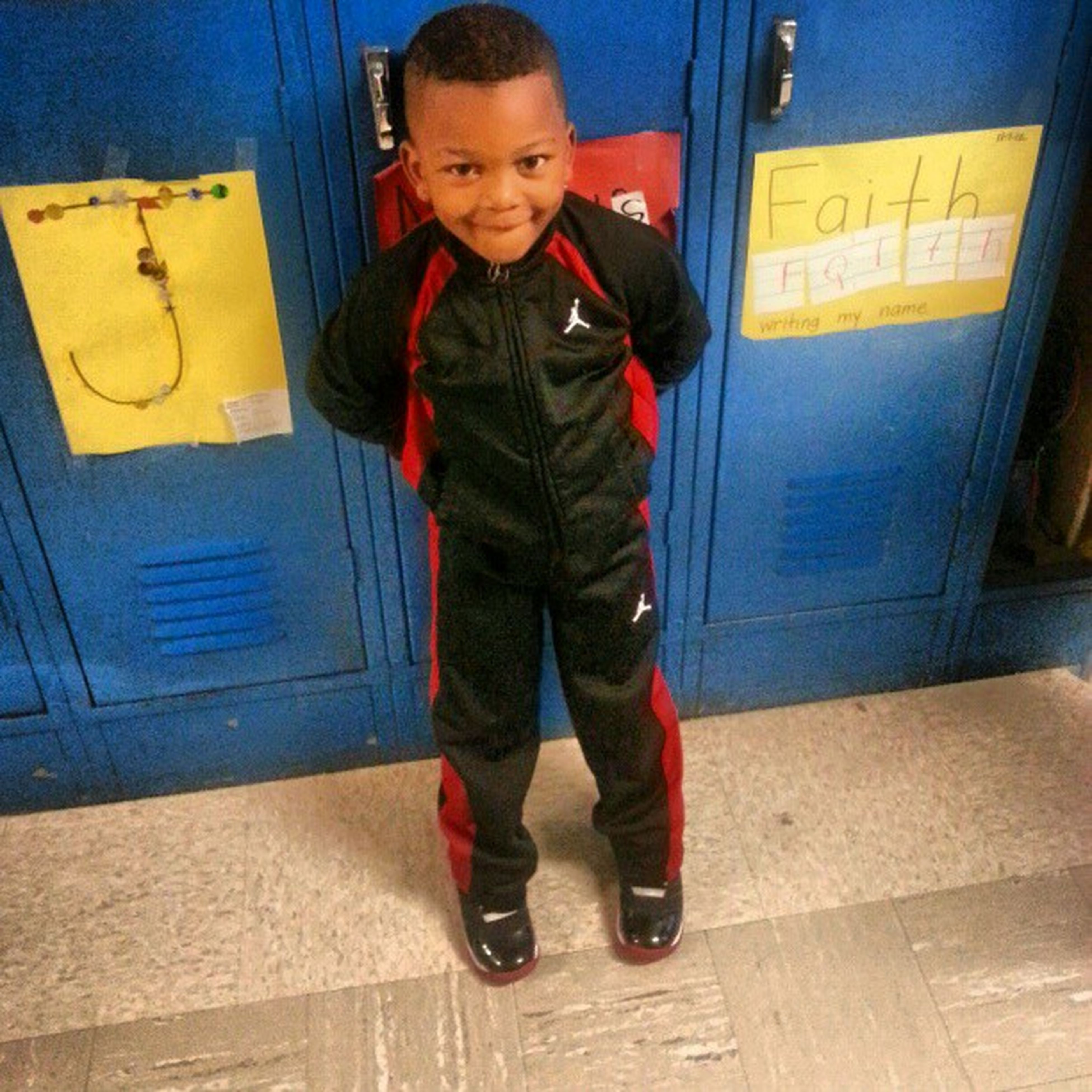Coolest Lil guy in head start....he begged me to wear this jumpsuit again lol said it was a classic tho Heonlythree